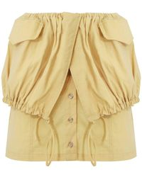 Jacquemus La Cueillette Mini Skirt Yellow - Multicolor