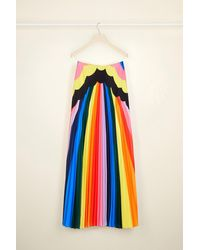 Patou Psychedelic Pleated Maxi Skirt - Multicolor