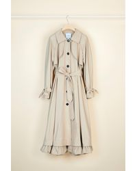 Patou Cotton Gabardine Trench Coat - Natural