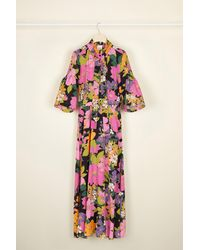 Patou Printed Necktie Midi Dress - Multicolour
