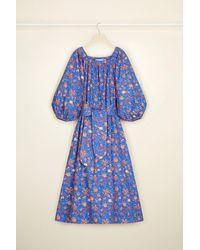 Patou Printed Maxi Dress In Organic Cotton - ブルー