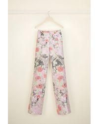 Patou Pantalone a gamba larga in lana - Rosa