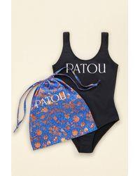 Patou ローバック ワンピース スイムスーツ - ブラック