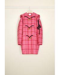 Patou Checked wool duffle coat - Rosa