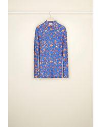 Patou オーガニックコットン プリントシャツ - ブルー