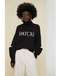 Patou Oversize-Pullover mit Cut-Out - Schwarz