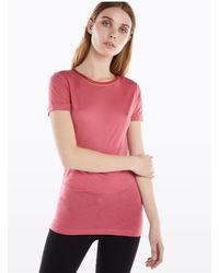Patrizia Pepe - T-shirt fluida in viscosa - Lyst