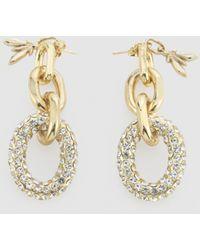 Patrizia Pepe Ohrringe Crystal Diamond Cut Chain - Mettallic