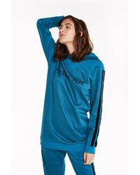 Patrizia Pepe Maxi-Sweatshirt aus Funktionsgewebe - Blau