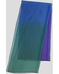 Paula Hian - Green, Blue And Purple Ombre Silk Chiffon Scarf - Lyst
