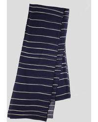 Paula Hian - Navy Stripe Silk Chiffon Scarf - Lyst