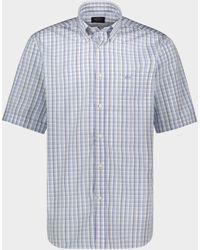 Paul & Shark Camicia in Popeline di cotone organico - Blu