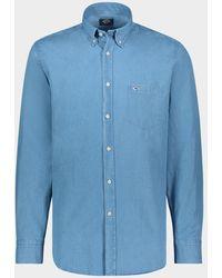 Paul & Shark Camicia in cotone denim - Blu