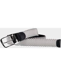 Paul & Shark Cintura elastica reversible con acabados en piel - Blanco