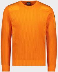 Paul & Shark Jersey de algodón orgánico con cuello redondo y parche icónico - Naranja