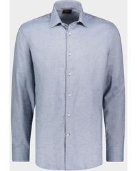 Paul & Shark Flanellhemd aus Baumwolle&Kaschmir - Blau