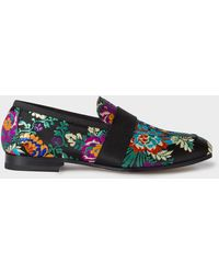 Paul Smith Oriental Brocade Embroidery 'glynn' Penny Loafers - Multicolor