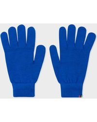 Paul Smith - Blue Lambswool Gloves - Lyst