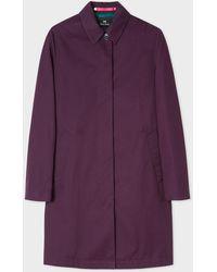 Paul Smith - Purple Cotton Unlined Mac - Lyst