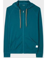 Paul Smith - Teal Jersey Cotton Lounge Hoodie - Lyst