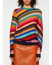 Paul Smith Pull 'Swirl' Intarsia En Laine - Multicolore