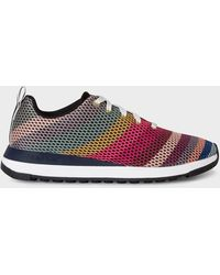 Paul Smith 'swirl' Mesh 'rappid' Sneakers - Multicolour