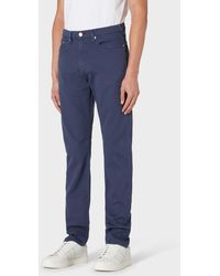 Paul Smith Tapered-fit Slate Gray Garment-dye Jeans