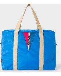 Paul Smith Blue Lightweight Packaway Gym Bag