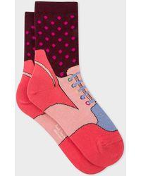 Paul Smith - Pink 'Trainer' Pattern Socks - Lyst