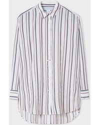 Paul Smith - White Thin Stripe Cotton-Blend Shirt - Lyst