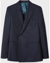 Paul Smith The Kensington - Slim-fit Navy Buggy-Lined Double-breasted Wool Blazer - Blue