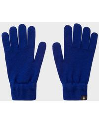 Paul Smith - Men's Cobalt Blue Merino Wool Gloves - Lyst