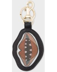 Paul Smith - 'Lips' Motif Lenticular Leather Keyring - Lyst