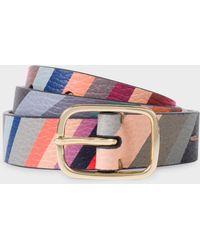 Paul Smith - 'Swirl' Print Calf Leather Belt - Lyst