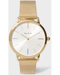 Paul Smith - Unisex White And Gold 'ma' Watch - Lyst