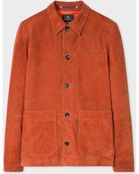 Paul Smith - Burnt Orange Suede Work Jacket - Lyst