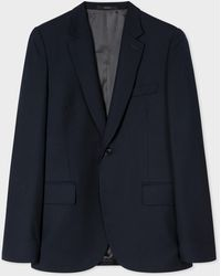 Paul Smith Tailored-fit Navy Wool Blazer - Blue