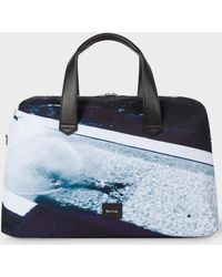 Paul Smith Photo Print Holdall Duffel Bag - Blue