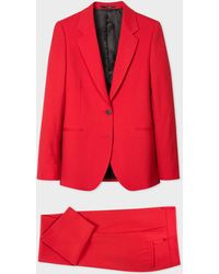 Paul Smith A Suit To Travel In - Red Two-button Wool Suit
