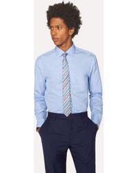 Paul Smith - Tailored-Fit Sky Blue Cotton 'Signature Stripe' Cuff Shirt - Lyst