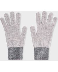 Paul Smith Grey Wool Gloves - Gray
