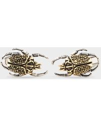 Paul Smith 'beetle' Cufflinks - Metallic