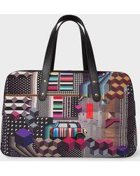 Paul Smith - 'Geometric Mini' Print Canvas Weekend Bag - Lyst