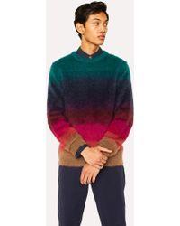 Paul Smith - Gradient 'Artist Stripe' Wool-Mohair Sweater - Lyst