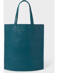 Paul Smith No.9 - Teal Leather Tote Bag - Blue