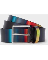 Paul Smith Multi-coloured 'horizon' Stripe Leather Belt - Multicolour