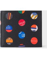 Paul Smith 'cycle Dot' Print Leather Billfold Wallet - Multicolor