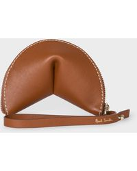 Paul Smith 'half Moon' Tan Leather Keyring Pouch - Brown