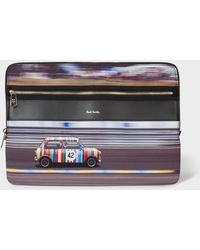 "Paul Smith 'racing Mini' Print Canvas 13"" Laptop Sleeve - Black"