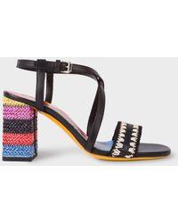 Paul Smith   Women's Black Vachetta Leather 'Juliette' Sandals   Lyst